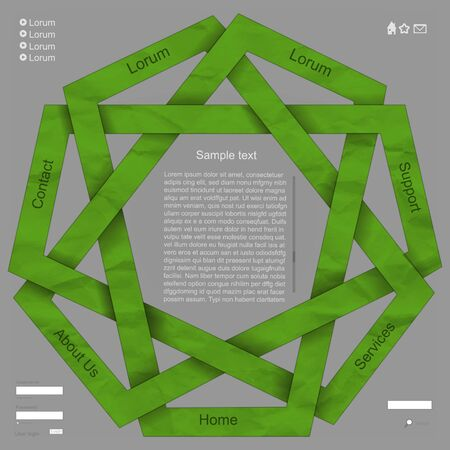 Green natural web design Illustration