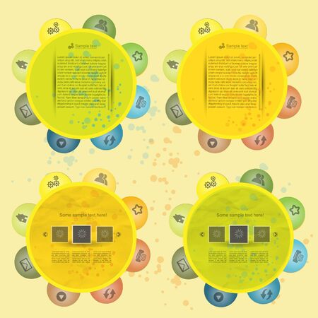 Modern creative colorful vector blog set Stock Vector - 13551759