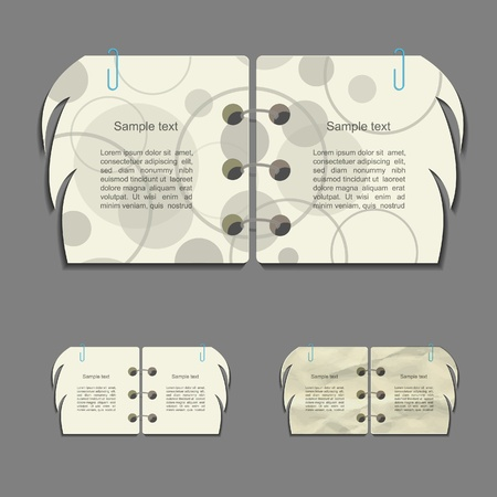 scribbling: Creative vector paper design set
