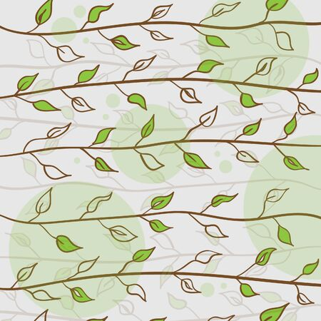 Creative nature vector background with leaf Vector