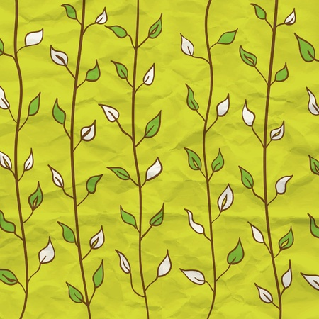 Modern leaf pattern Vector