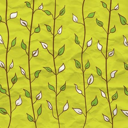 Modern leaf pattern Stock Vector - 13385110