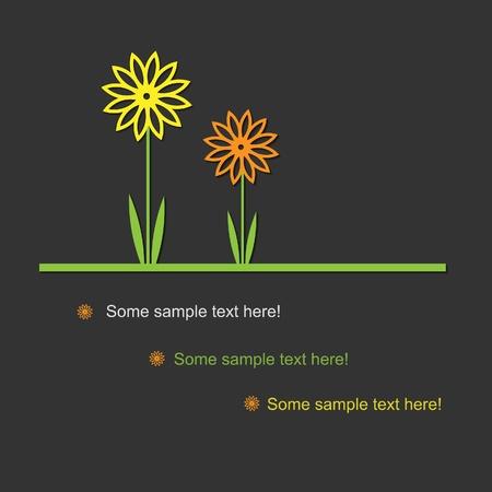 birth day: Sweet flower pattern