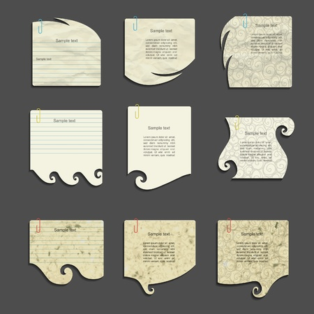 vectore: Nature vectore paper set
