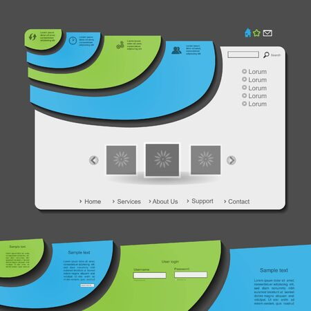 Colorful creative vector modern web design