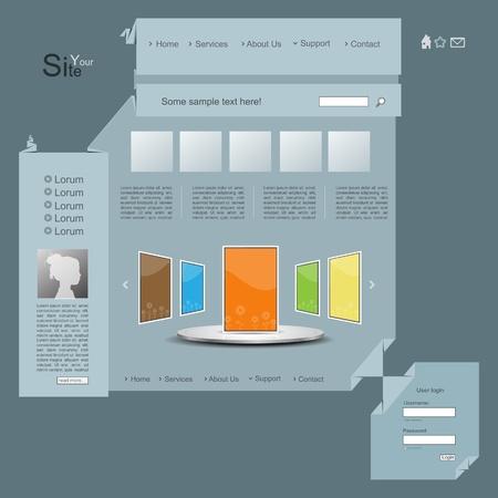 3d Origami Creative Vector Website Design With Portfolio Royalty ...