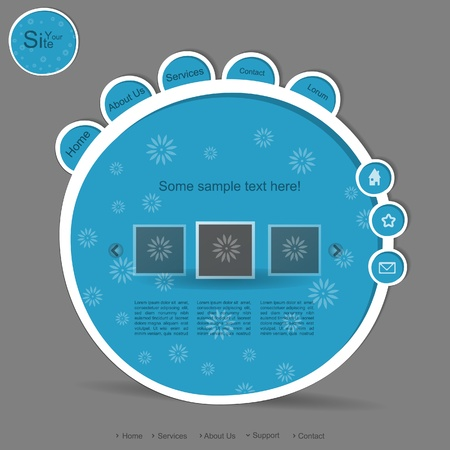 Blue creative bubbles website with cyrcle mandala Stock Vector - 13549274