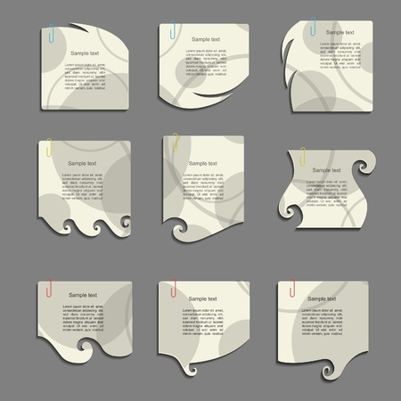 scribbling: Modern note set