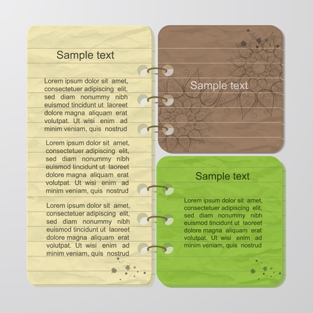 Colorful note Vector