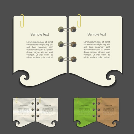 spiral pad: Creative vector note set
