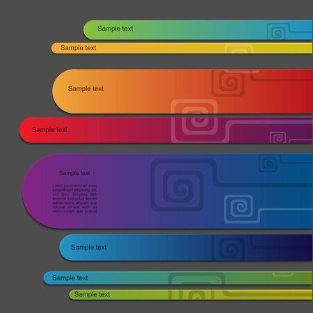 Colorful vector banner set with spiral Vector