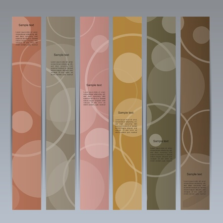 Colorful vector banner set with cyrcle pattern Illustration