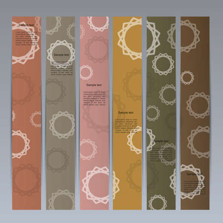 Colorful banner set with cyrcla mandala Vector