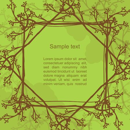 Green nature creative blog banner with tree mandala Vector
