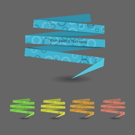 cyrcle: Colorful origami banner with cyrcle pattern