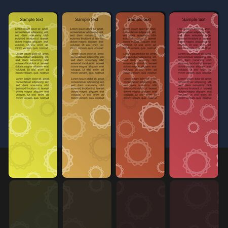Colorful banner set with cyrcle pattern Stock Vector - 13465220