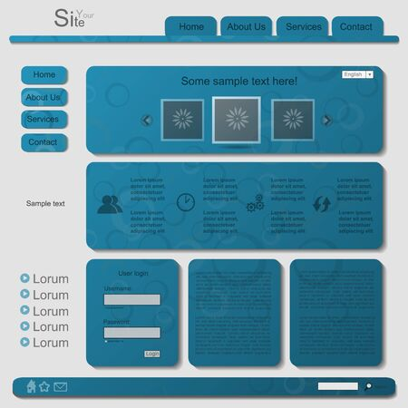 Blue modern web element Vector
