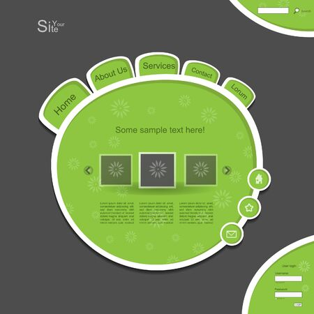 cyrcle: Green creative modern website blog with cyrcle pattern
