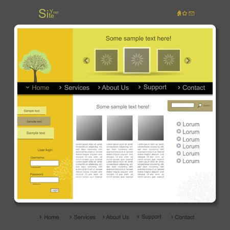 Colorful creative modern website with tree Vector