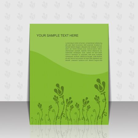 Green folder design with flower Vector