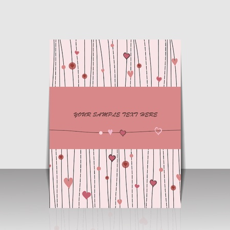 sweety: Sweety folder design with heart Illustration