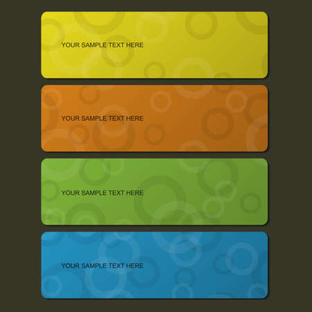 Colorful banner set with cyrcle pattern