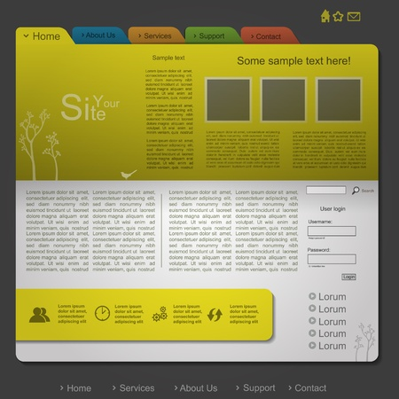 Gold nature modern eco website with tree