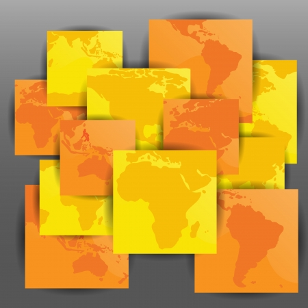 mapas conceptuales: Diseño de mapas creativa colorida