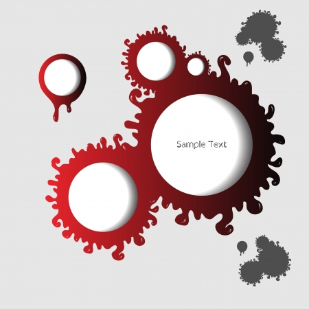 Creative modern abstract red speech bubbles