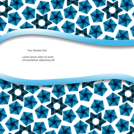Abstract modern vector blue banner with pattern