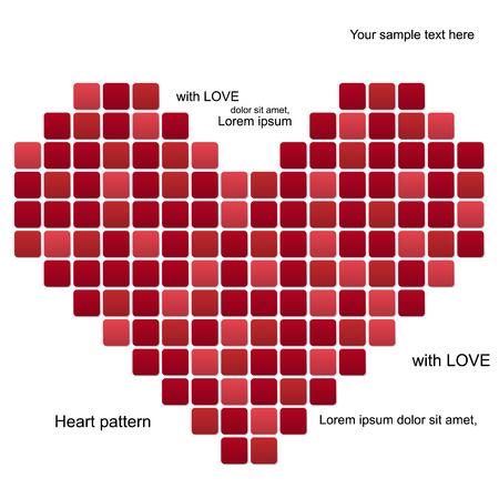 Abstract creative modern heart valentine pattern