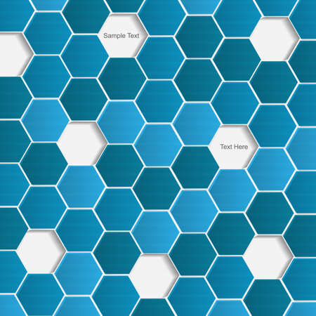 Abstract vector modern background with hexagon Vector
