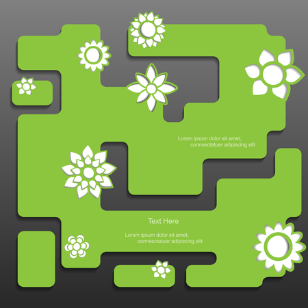Nature modern vector web item set Vector