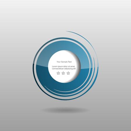 Abstract modern editable web design speech bubbles