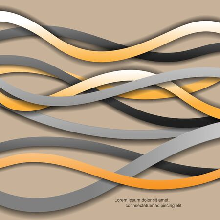Creative modern abstract with lines Illustration