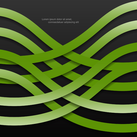 Green modern abstract with lines