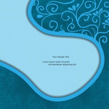 Abstract modern creative text box with flower pattern