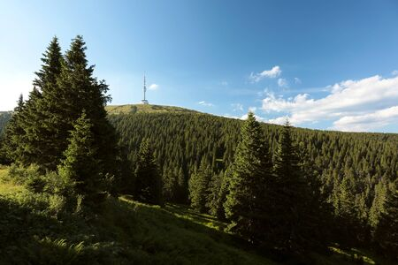 sudetes: View of the peak Praded - 1491 m - in the eastern Sudetes, Czech Republic