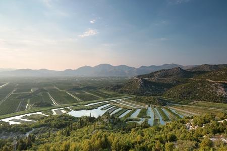 green river: The valley of the Neretva river, Croatia