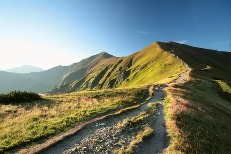 Trail leading to the summit, Tatra Mountains in the Carpathians