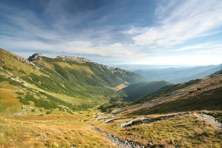 giewont: Valley and the popular mountain Giewont in the Tatras Stock Photo