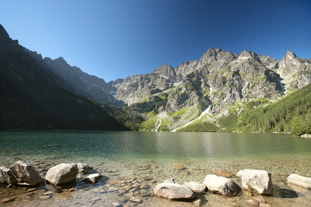 morskie: Lake Morskie Oko in the Tatra National Park