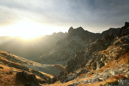 mnich: Tatra Mountains at sunrise in late September