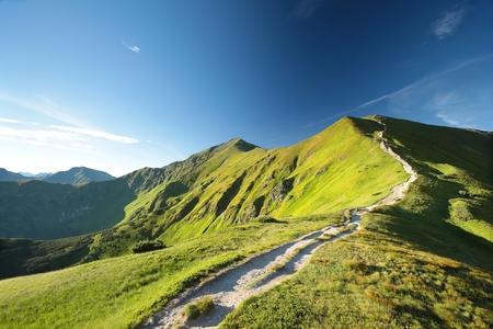 スロバキア語-ポーランド語の国境にタトラ山脈の峰 写真素材 - 61891034