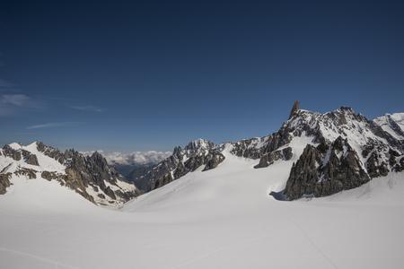 blanche: Glacier du Géant,Vallee Blanche, Mont Blanc Massif, Chamonix, France