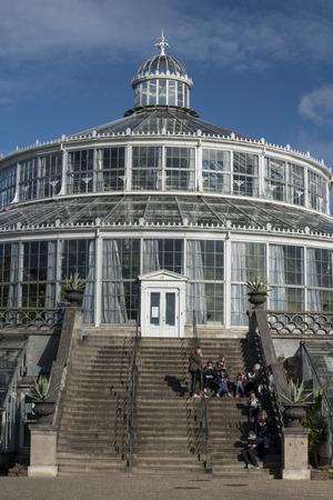 Palm House or Palmehus, greenhouse in the Botanic Gardens, Copenhagen, Denmark, Europe Editorial