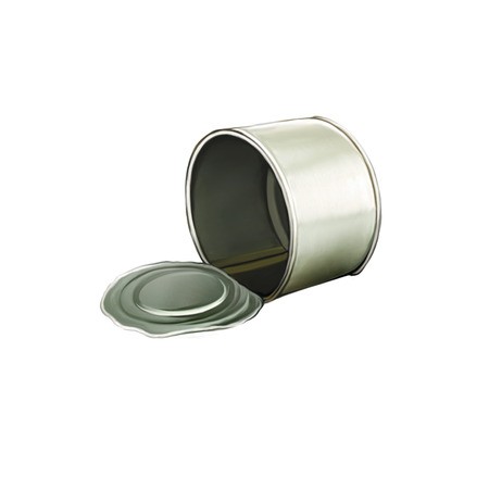 tincan: Opened Tincan Ribbed Metal Tin Can, Canned Food. Ready For Your Design.