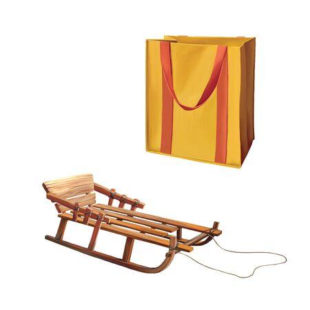 reusable: Reusable shopping bag, Bag for groceries Stock Photo