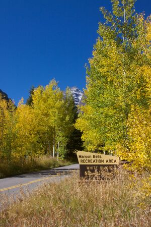 Entering Maroon Bells Area in Fall photo