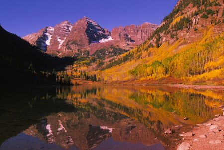 maroon Bells Aspen Colorado in Autumn photo